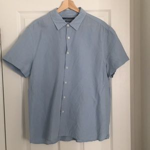 Perry Ellis Linen Short Sleeve